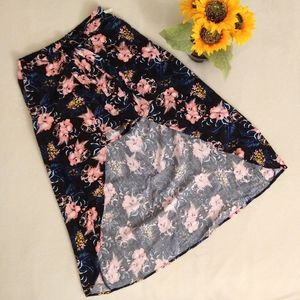 Floral Shorts with Skirt